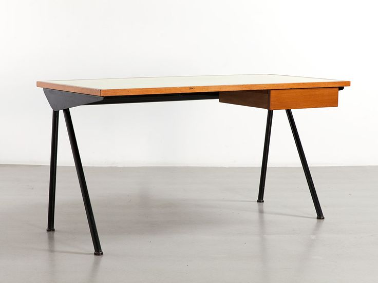 Jean Prouv Compas desk with tube legs, 1955