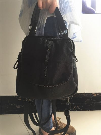 Hot-sale designer Women High-end Multifunction Soft PU Leather Handbag  Double Layer Large Capacity Backpack Online - NewChic Mobile 1e4356e0e8889