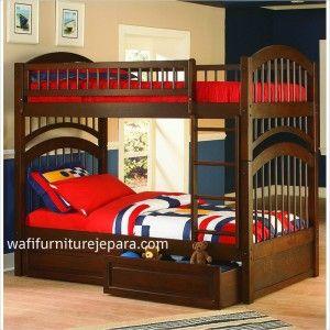Tempat Tidur Anak Tingkat (Laki-Laki) Tempat Tidur Anak Tingkat  Spesifikasi Produk Tempat Tidur Anak Tingkat  Bahan Baku : Kayu Jati  Finishing : Melamine  Ukuran : 120x200x200 cm