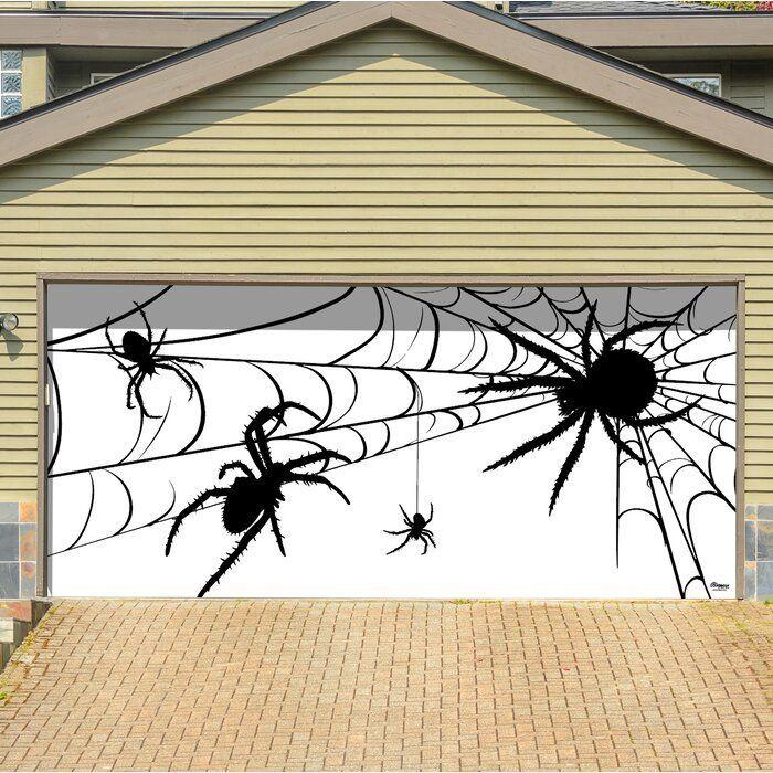 The Holiday Aisle Spiders Halloween Garage Door Mural With 192 W Wayfair Garagentor Bilder Spiders Halloween Garage Halloween Garagentor Garagentor Bilder