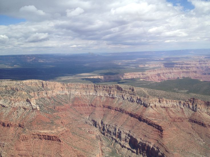 A great nature of Grand canyon in harmony with a cloudy sky