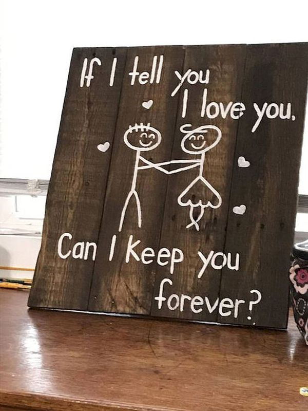 25 Super Romantic Wooden Signs For Valentine S Day Home Design And