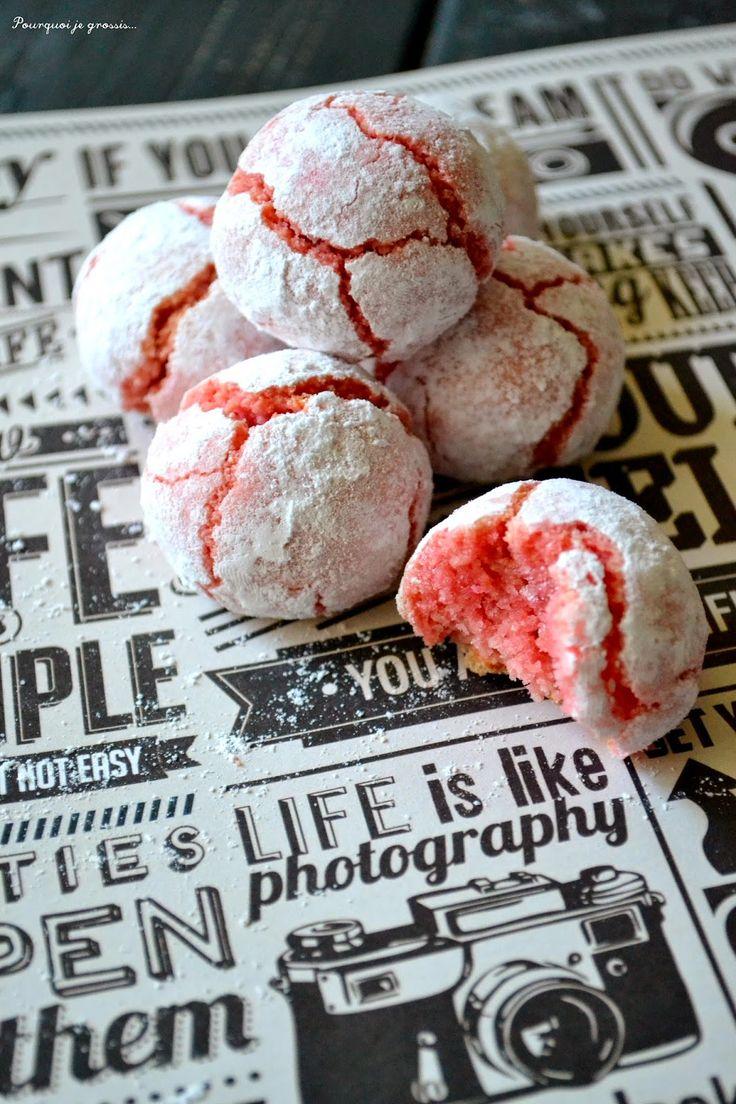 Pourquoi je grossis ... : Amaretti aux biscuits roses de Reims.