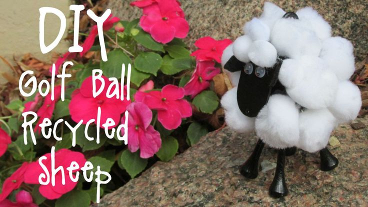 sheep, sheep craft, recycle, recycling, recycling craft, upcycle, upcycling, golf ball, golf, craft, how to , diy, kids craft