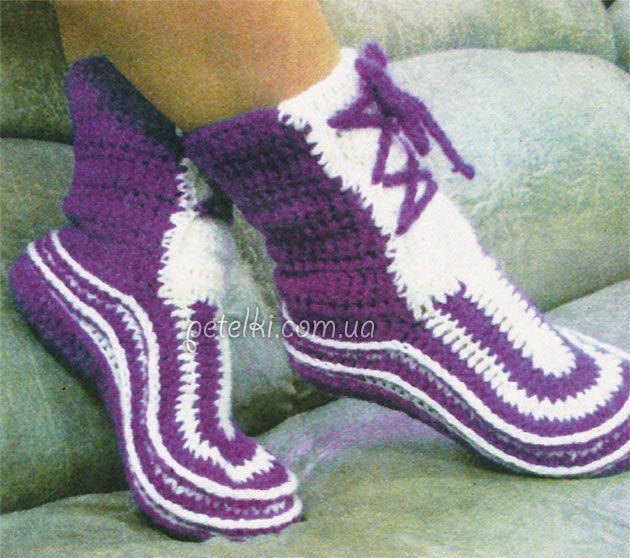 Носочки-сапожки крючком. Описание вязания