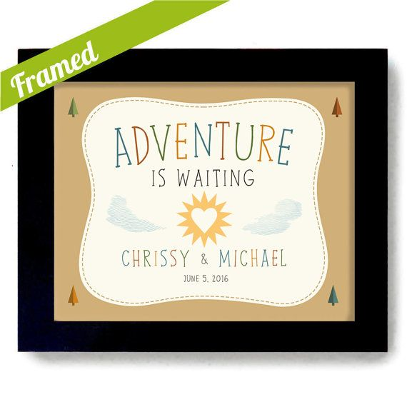 Wedding Gifts For Adventurous Couples : Adventure Awaits Outdoors Couple Wedding Gift Nature by DexMex Cabin ...