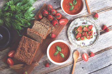 Tomato and Strawberry Soup!
