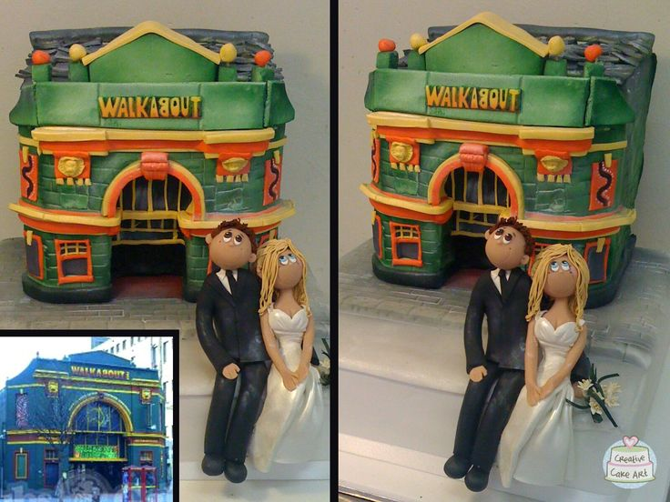 3D Portrait wedding cake.