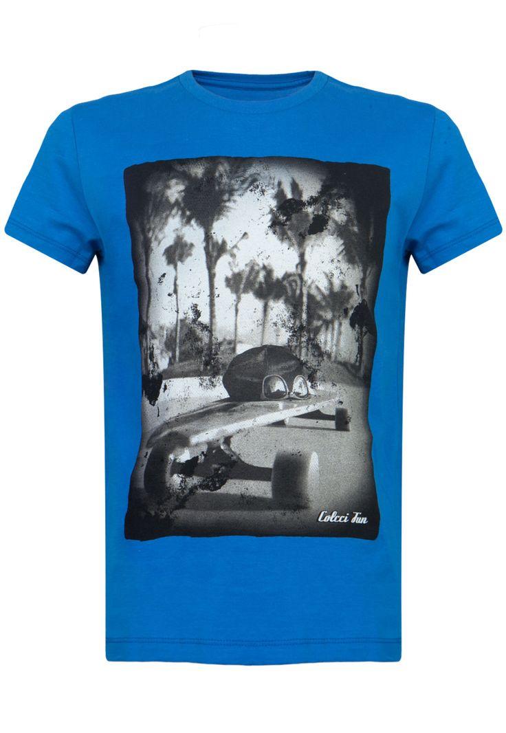 Camiseta Colcci Fun Skate Azul - Compre Agora | Dafiti Brasil