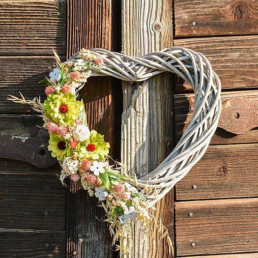 Hydrangea / Srdce na dvere so zelenou cíniou