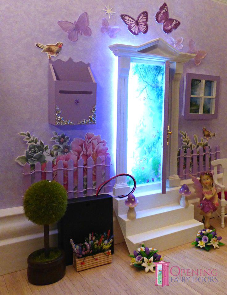 17 best images about opening fairy doors on pinterest for Purple fairy door