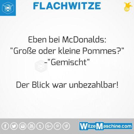 Flachwitze #311 - Pommes bei McDonalds bestellen