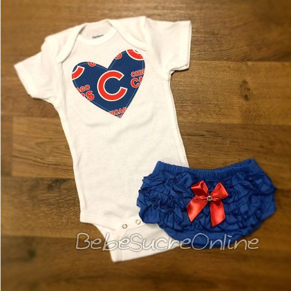Chicago Cubs Girls Outfit by BebeSucreOnline on Etsy