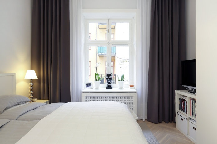 M?rkgr? gardiner i sovrummet Bedroom Pinterest The window, The ...
