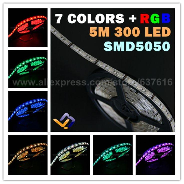 Дешевое Dc24v RGB из светодиодов полосы 5 м SMD5050 60 светод. / м 300 светод. / Roll водонепроницаемый рождественских огней счетчики ювелирных изделий / фойе декоративные лампы, Купить Качество полосы светодиодные непосредственно из китайских фирмах-поставщиках:                    Завод прямые продажи!                                      24 В RGB светодиодные декоративные полосы