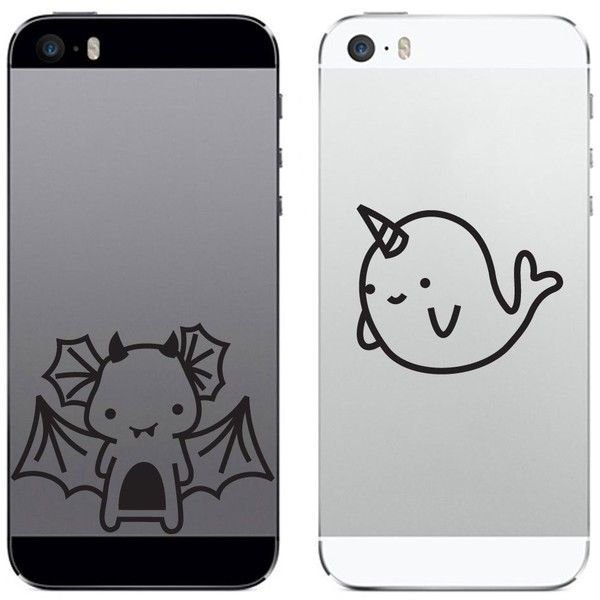 Tech tattz mystical besties narwhal and dragon vinyl decal sticker for phone tablet laptop