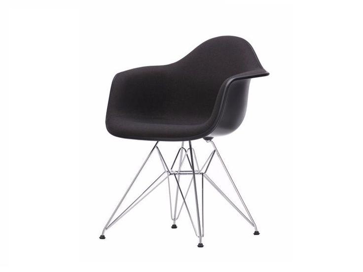 Gepolsterter Stuhl aus Stoff mit Armlehnen DAR | Gepolsterter Stuhl by Vitra