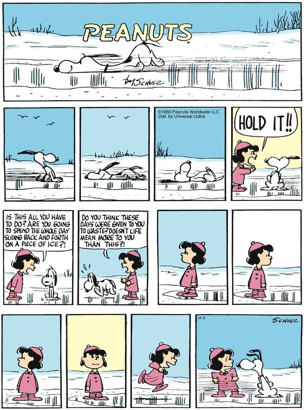 Peanuts Comic Strip, December 15, 2013 on GoComics.com