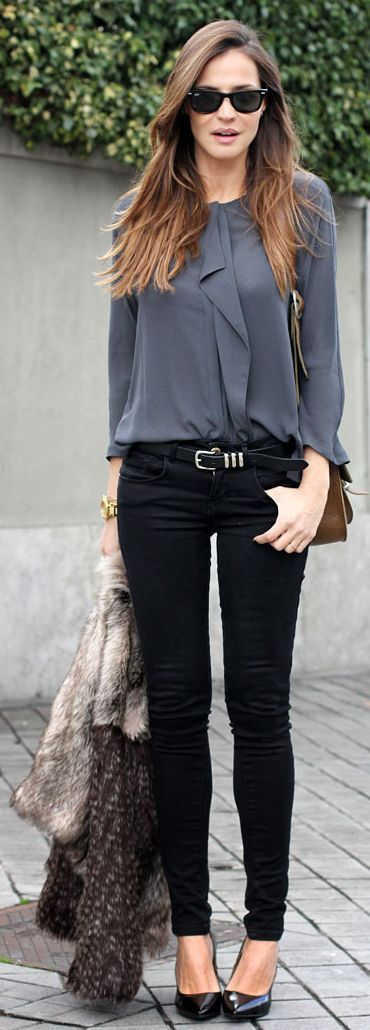 Gray Blouse by LadyAddict good look