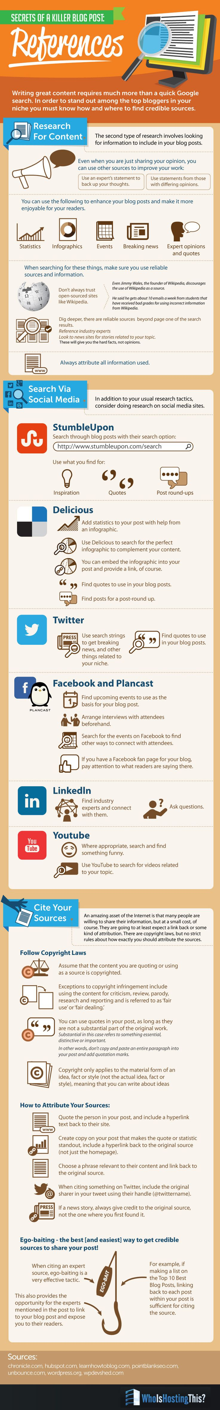 Secrets of a Killer Blog Post: References - #infographic #blogging