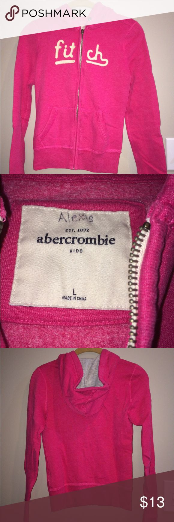 Abercrombie girls sweatshirt Very cute withe very little wear abercrombie kids Shirts & Tops Sweatshirts & Hoodies