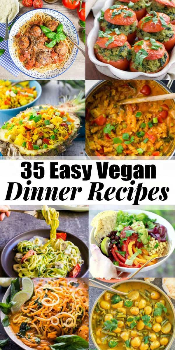 These 35 vegan dinner recipes are perfect for busy days! All recipes are plant-b…