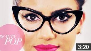 Nerd Chic: Cat Eye Makeup for For Glasses! http://karasglamourblog.blogspot.com/2013/09/nerd-chic-cat-eye-makeup-for-for-glasses.html