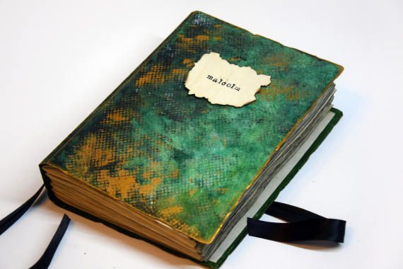 personalized gift rustic handmade journal gift for him
