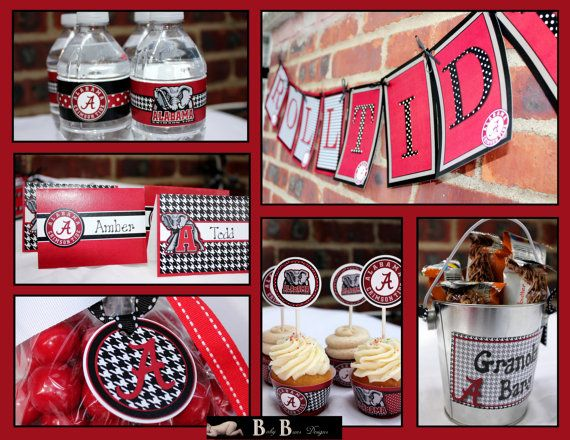 Alabama Crimson Tide Party Pack Printable Party By Babybunsdesigns