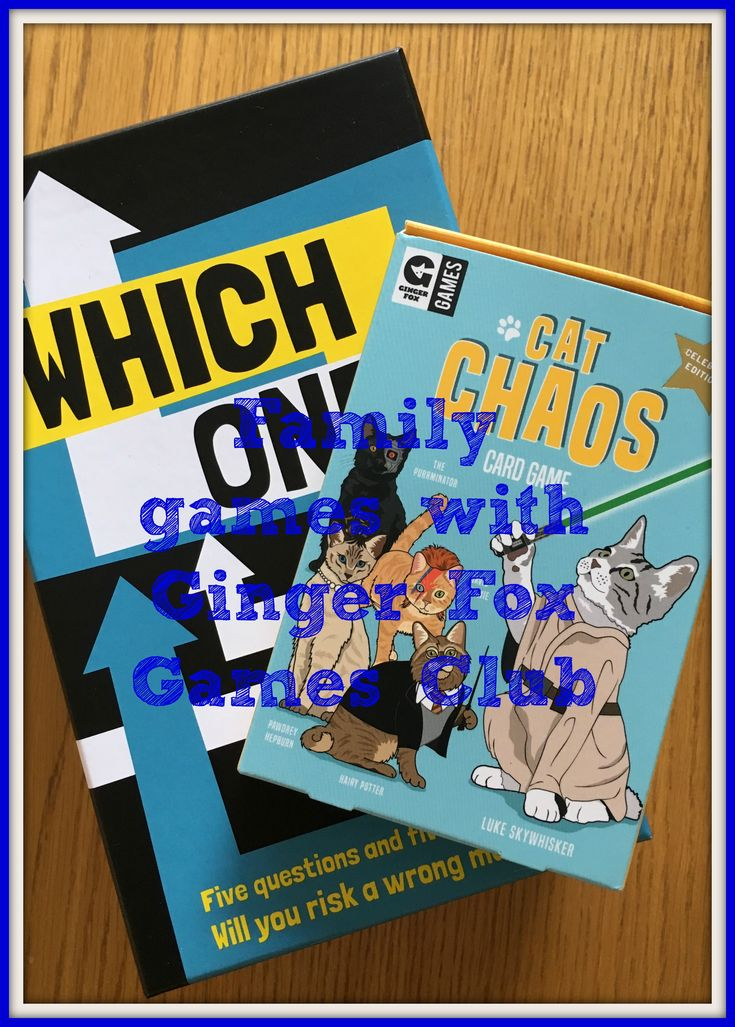 Family games with Ginger Fox Games Club