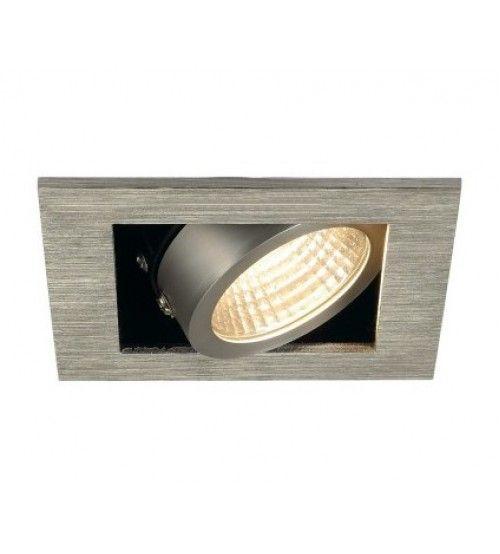 Inbouw spot Kardan 230 Volt 1x LED spot aluminium geborsteld 3000K Dimbaar