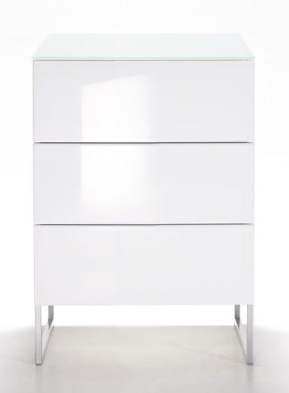 Oliivi hurst – 3 lådor, vit från Nurmela hos ConfidentLiving.se