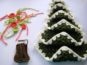 I just had to make this... ...after I spied this A vintage granny square Christmas tree. The dear 93yr. old woman that...
