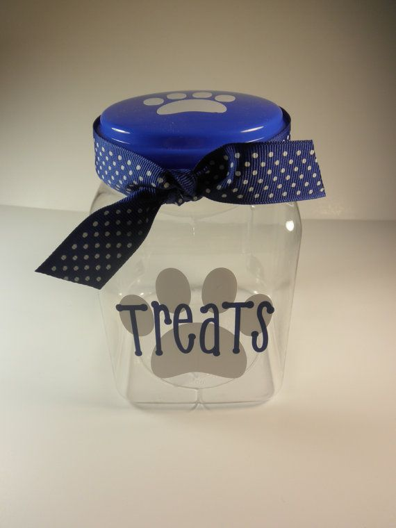 Dog treat container Dog treats Gifts for Dogs Pet by Knackmaker