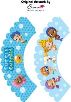 {Free} Printable Bubble Guppies Cupcake Wrappers