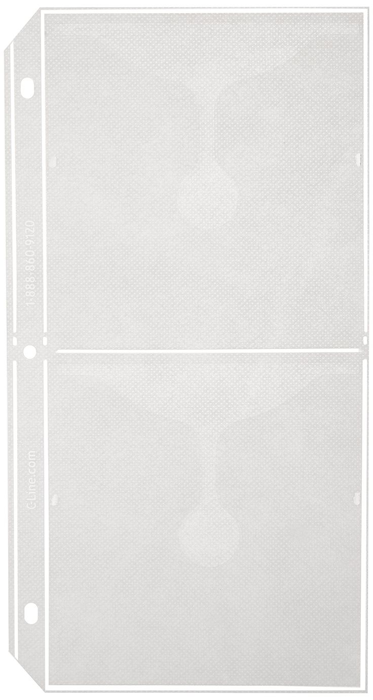 Cline Deluxe Cd Ring Binder Storage Pages For Standard 3ring Binders,