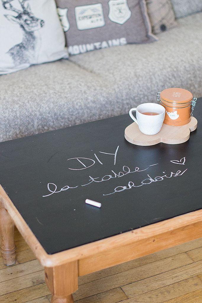 DIY : la table ardoise pour Elinor <3 (merci Marie ;-))