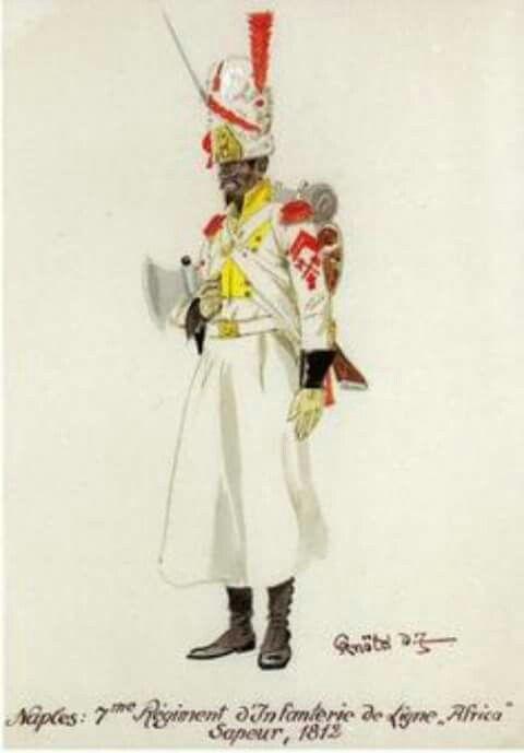 Zappatore del 7 rgt. fanteria di linea del regno di Napoli