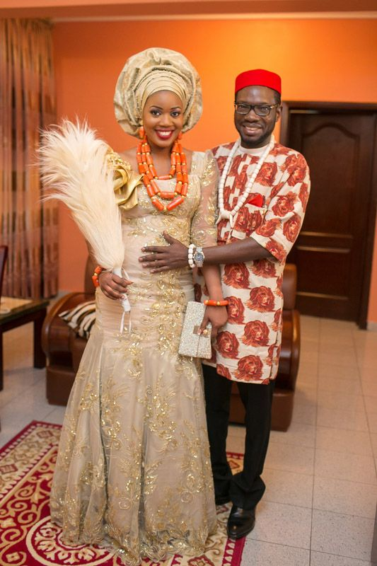 """Gloria and Charles's Traditional wedding took place in Akwa Ibom, the brides and her friends were all stunning. Her three outfits were gorgeous, They were all on point, her makeup was done by the baddest """"jideofstola""""…. find below pictures from their gorgeous wedding ceremony…  xoxo… Her first Outfit… Her Second outfit…Her third and Final …"""