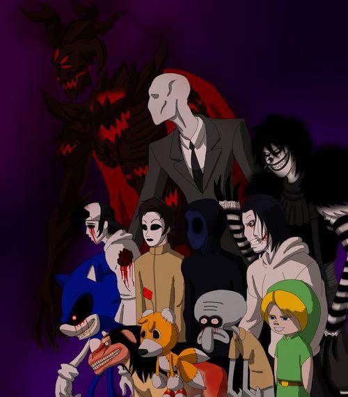 All Creppypasta : Zalgo, Slenderman,Laughing Jack, Eyeless