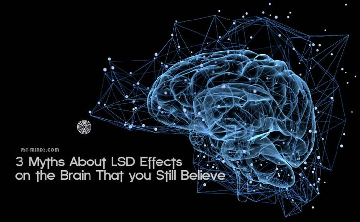 3 Myths About LSD Effects on the Brain That you Still Believe - @psyminds17