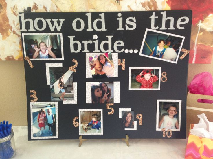 """Life Size Jenga >> Bridal shower """"How old is the bride"""" game 