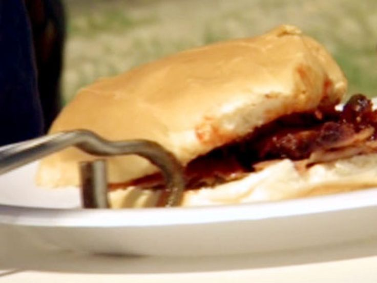 Mungo-lian Barbequed Tri Tip Sandwiches recipe from BBQ with Bobby Flay via Food Network