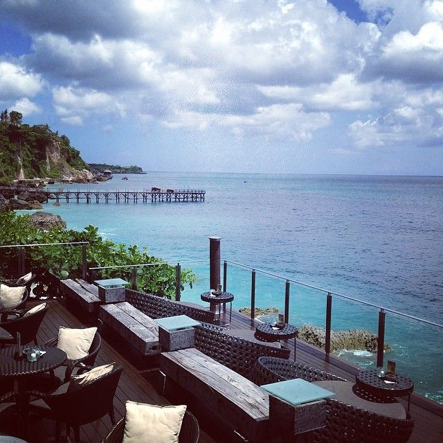 Rock Bar at Ayana resort. Free admission have to be there at 4.30 pm to be on queue.