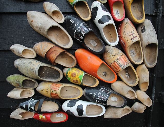 Wooden shoe collection