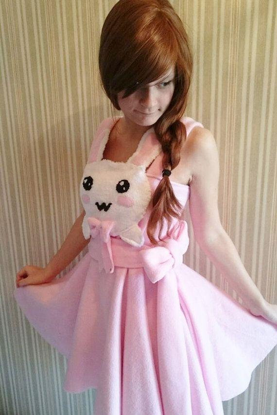 Cute bunny dress by KatelilleProductions on Etsy