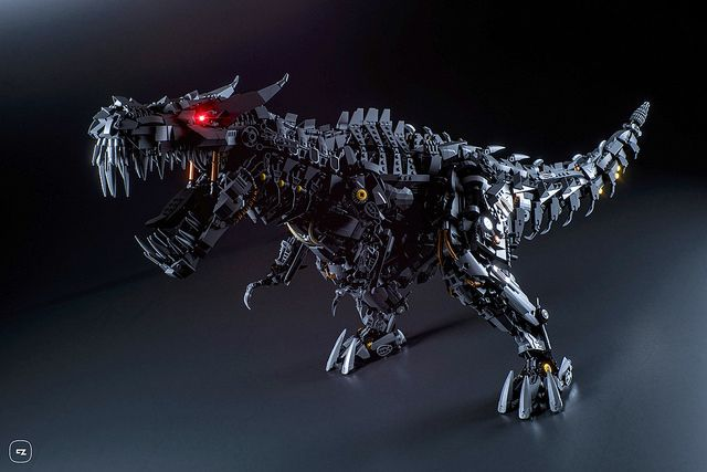 Spectacularly ferocious LEGO T-Rex Transformer will send you back to the Jurassic