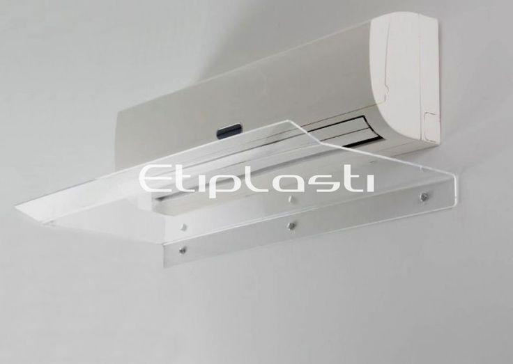 Defletor de acrílico para ar condicionado. Os defletores para ar condicionado ajudam a melhor direcionar o fluxo de vento que sai do aparelho direcionando a corrente de ar para cima.