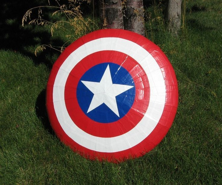 This is a flying Captain America shield that you can make out of duct tape and cardboard. Make a couple of these and you can battle it out with your friends Captain America-style! I had two goals in mind with this project: 1) that the finished shield could be tossed around safely and actually fly stable like a giant Frisbee, and 2) that it could be replicated by almost anyone, independent of their current crafting skills. For this project I made a couple of different flying shield…
