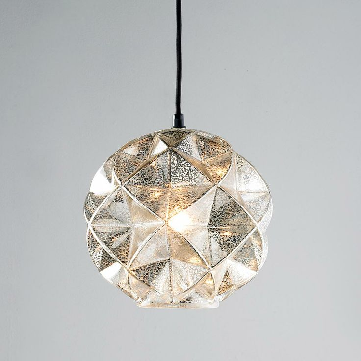 Mercury Glass Geodesic Dome Pendant Light - 3 of these clustered over the dining table would look so amazing.